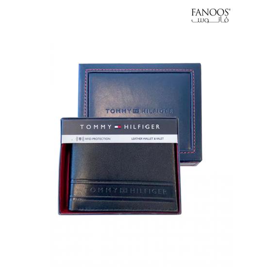 Tommy Hilfiger Men's Wallet- Black