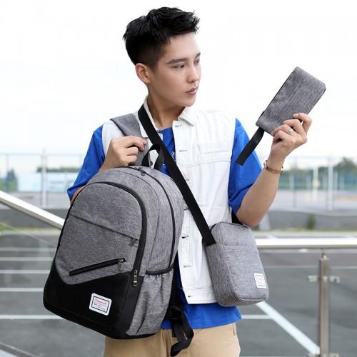 3 in 1 Set Multi-functional Travel Business Laptop Waterproof Backpack